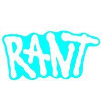 RANT Logo Sticker white - VK 0,50 EUR
