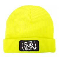SUBROSA Bold Patch Beanie highlighter yellow - VK 31,95 EUR - NEW
